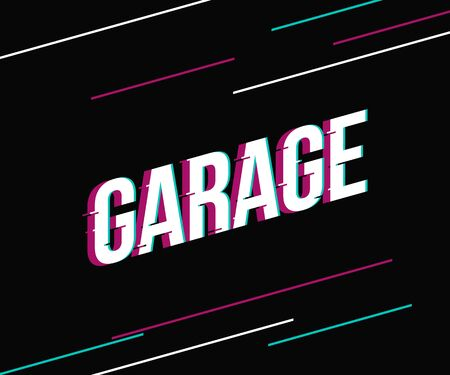 Garage lettering logo icon sign. Vector illustration