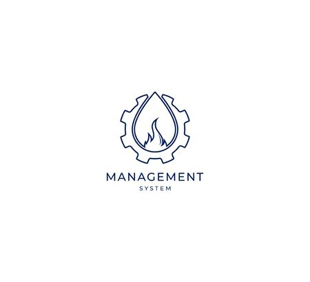 oil and gas company logo vector icon sign template Standard-Bild - 134534048