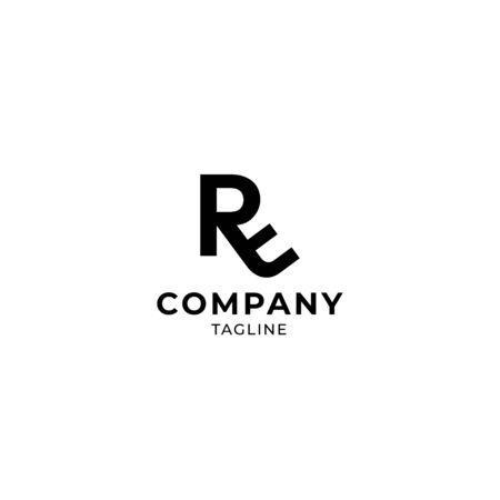 RE ER letter logo vector icon sign illustration Logo