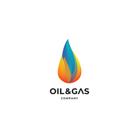 fire flame gas modern abstract logo vector icon illustration