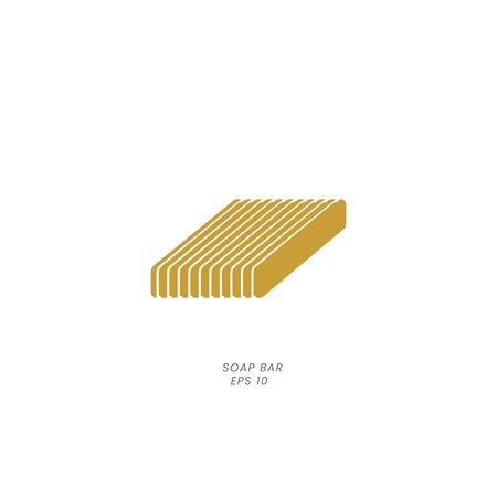 classic soap bar minimal logo icon vector illustration Çizim