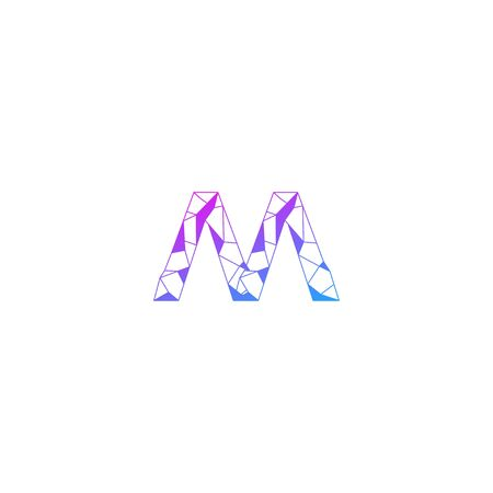 Letter M abstract technology logo icon sign design concept. Vector illustration isolated on white background