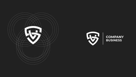 SV or VS letter modern minimal logo design concept. Vector illustration Logó