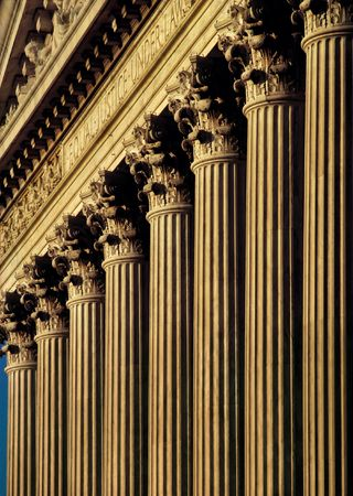 U.S. Supreme Court Building facade and columns Stock Photo