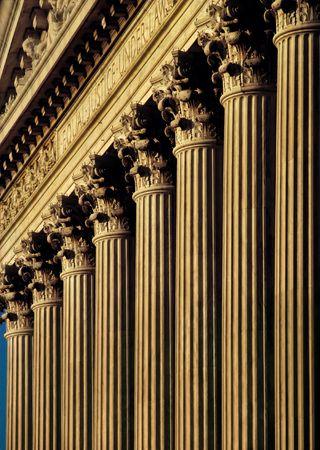 U.S. Supreme Court Building facade and columns Stok Fotoğraf