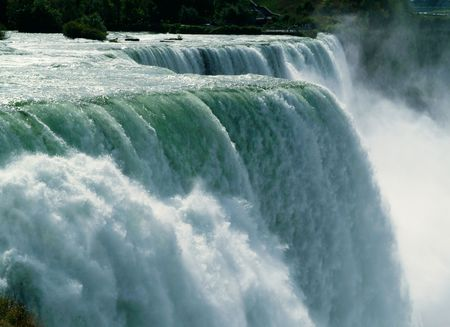 horseshoe falls: Close-up of Niagara Falls - horizontal