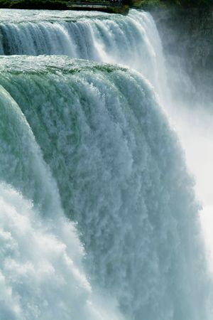cascading: Close-up of Niagara Falls - vertical Stock Photo
