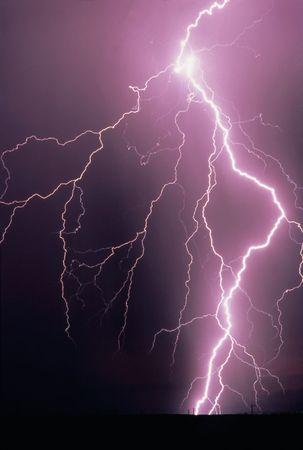rayo electrico: Del rayo huelga  Foto de archivo