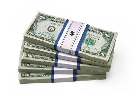 Stack Of Money - 100 dollar bills Stok Fotoğraf - 2558969