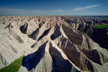 erode: Erosion In Badlands of South Dakota Stock Photo