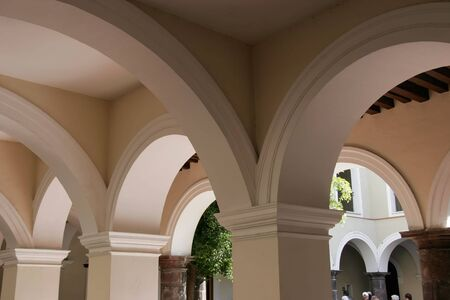Colonial Spanish Arches - Colima, Mexico Reklamní fotografie