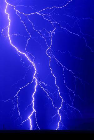 Lightning Bolt Strikes Stok Fotoğraf - 3395550