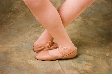 contortion: Ballet dancers flexible legs and feet - walking left and right at the same time