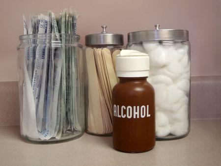 医者のオフィスで医療供給瓶 写真素材 - 3395552