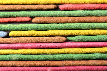 odour: incenses colors in horizontal position