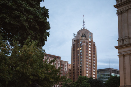 Boji Tower in Lansing Seen From the Michigan State Capitol
