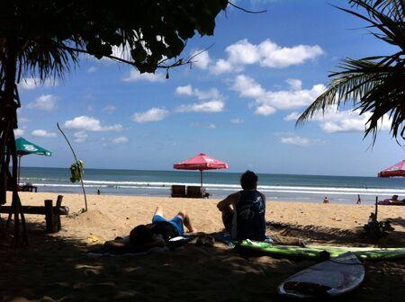 kuta: Waiting a big wave at kuta beach