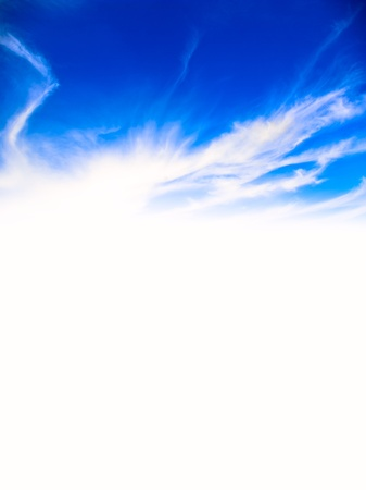 meterology: empty blue texture backgroound space for letter or advertising Stock Photo