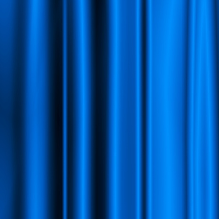 Blue silk-like satin fabric background - vertical lines photo