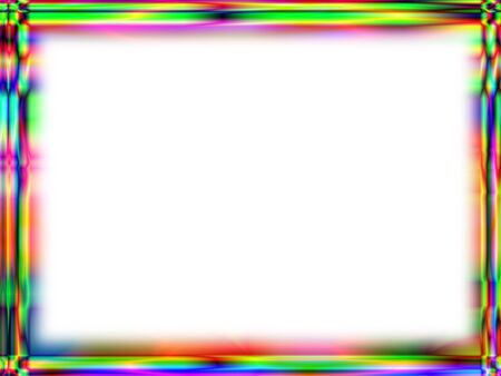 oblique: Unique rainbow gradient frame with white empty space for text Stock Photo