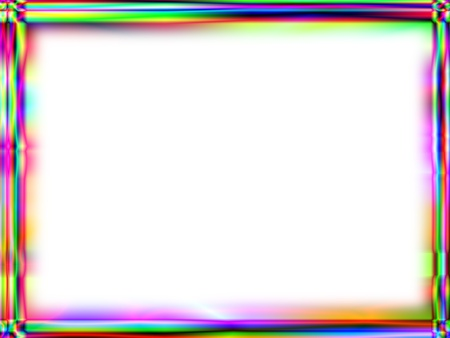 Unique rainbow gradient frame with white empty space for text Stock Photo