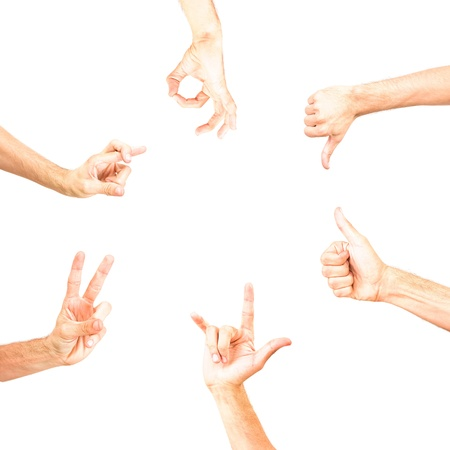 round empty space for text made with hands showing some signs, gesture, gesturing, sign, symbol, symbolic, fingers formed photo