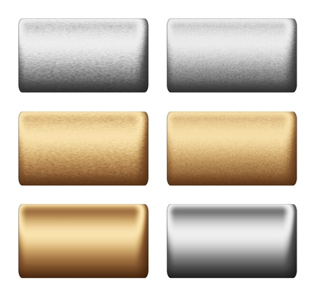 Metal silver gold  texture boards, background to insert text or design Stock Photo - 11956782