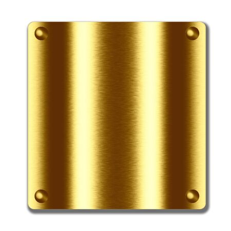 gold metal board. empty illustration, texture, background to insert text or design  Stock Photo