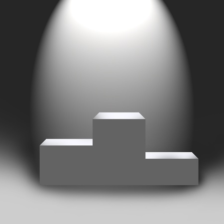3d empty podium in light illustration to design illustration