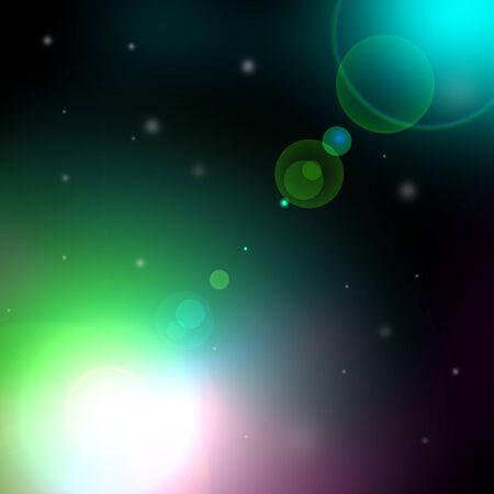 glaring: abstract outer space background with flare  Stock Photo