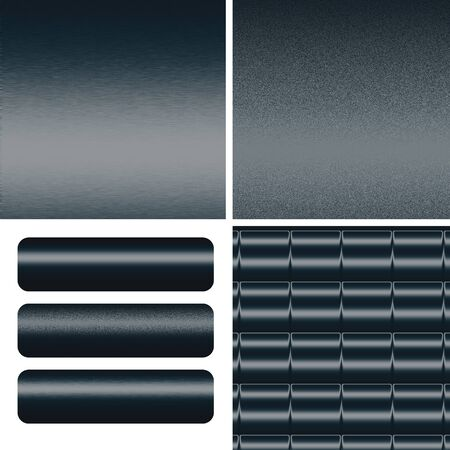 sandblasted: navy blue textured metal backgrounds and boards to insert text or web design Stock Photo