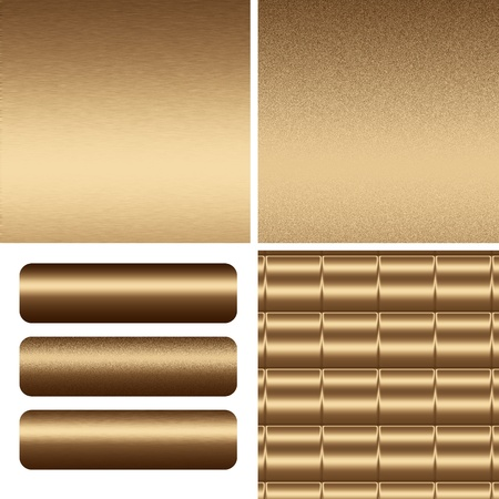 gold textured metal backgrounds and boards to insert text or web design Stock Photo