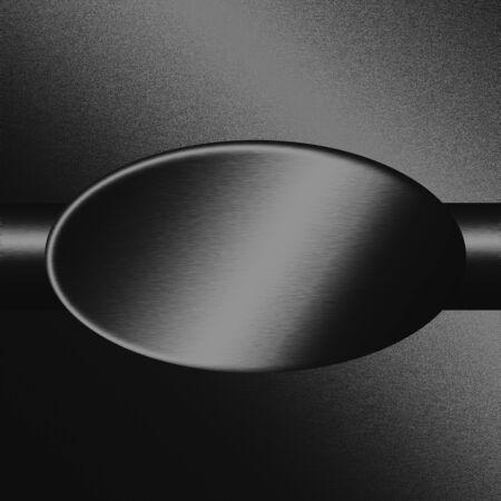 sandblasted: black sandblasted oval metal texture, background to web design or advertising Stock Photo
