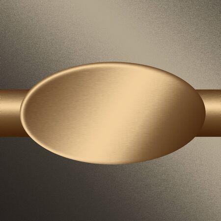 sandblasted: gold sandblasted oval metal texture, background to web design or advertising