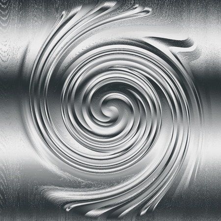 oxidized: abstract spiral metal relief, silver metal helix to design Stock Photo