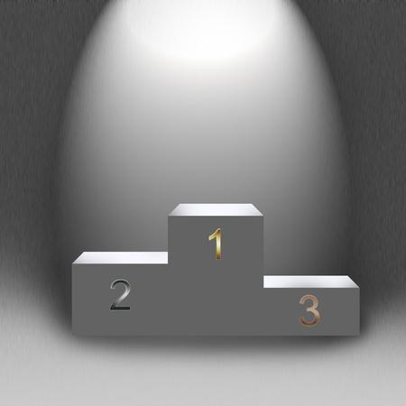3d empty podium in light illustration to design illustration