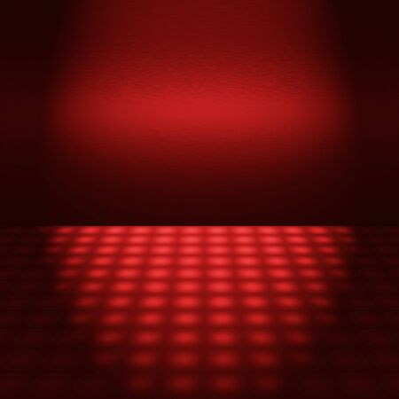 empty red disco scene with beam of light - to insert text or design photo