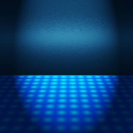 empty blue disco scene with beam of light - to insert text or design photo