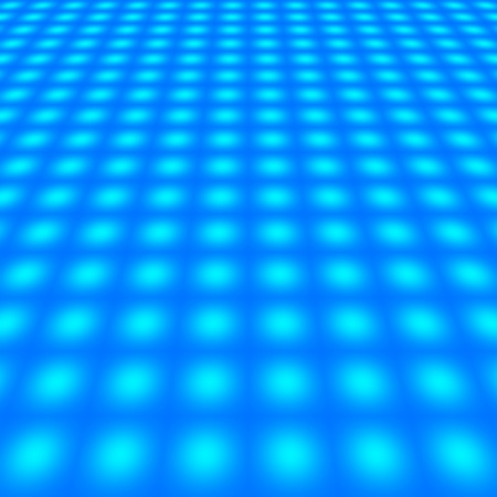 netty: abstract perspective of blue grid with dots - for insert text or design