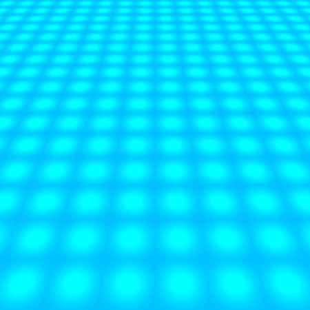 reticular: abstract perspective of blue grid with dots - for insert text or design
