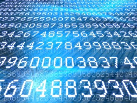 bytes: blue digits background