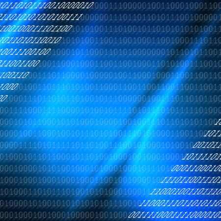 blue binary codes background , internet or new technology conception photo