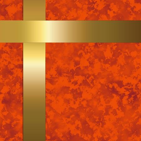 marbled: carta rossa con sbarre di metallo d'oro
