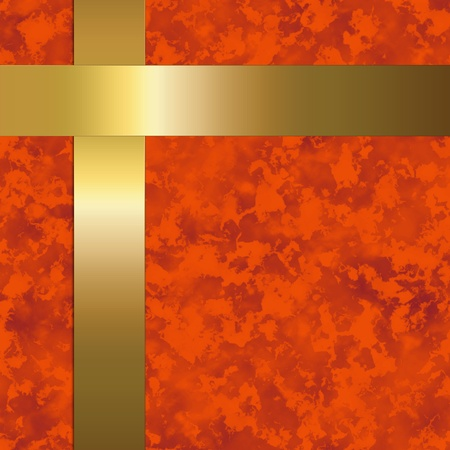 red paper with gold metal bars Zdjęcie Seryjne