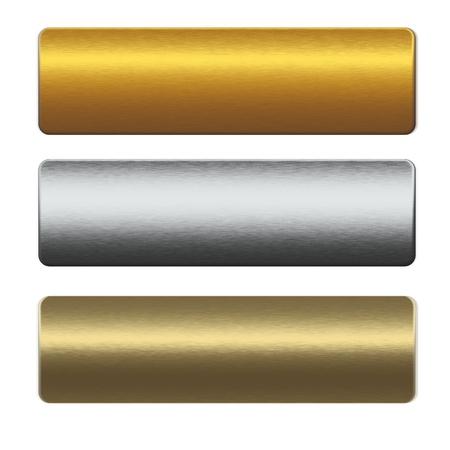 rejas de hierro: colección de barras de metal de oro y plata Foto de archivo