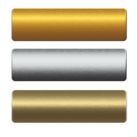 sandblasted: collection of gold and silver metal bars