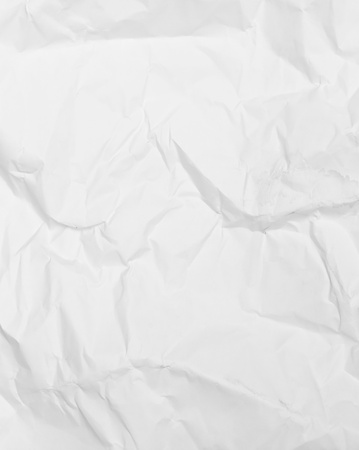 crumbled: White paper page as background or texture Stock Photo