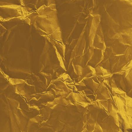 crumpled gold paper photo
