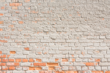white brick wall background or texture Stock Photo - 13694677
