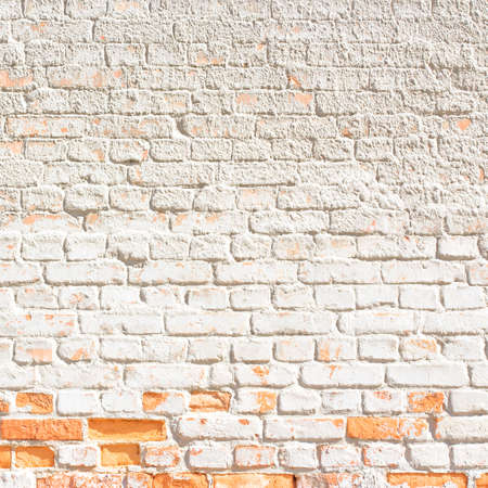 white brick wall background or texture photo